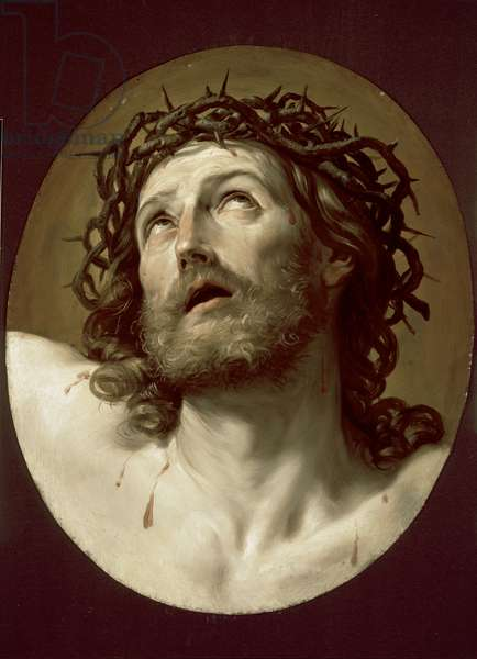 Head of Christ Crowned with Thorns, early 1630s (oil on copper panel)