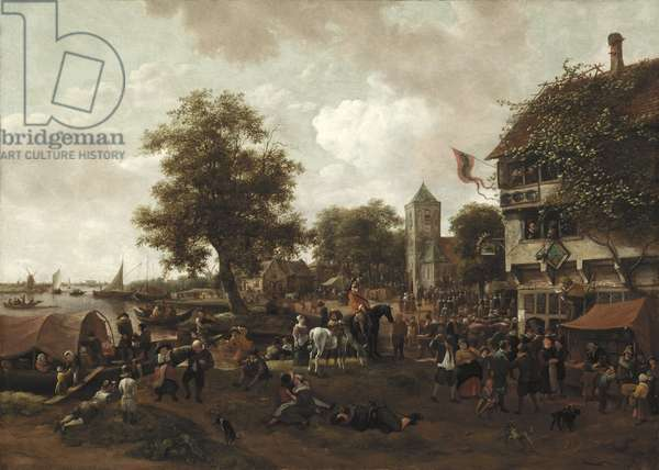 The Fair at Oegstgeest, c.1655/60 (oil on canvas)