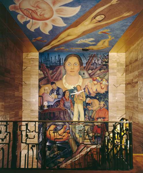 Allegory of California, 1930-31 (fresco)