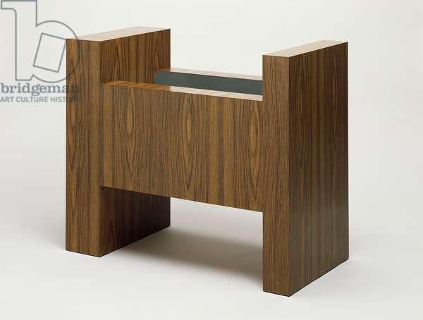 Cradle, 1967 (formica on wood)