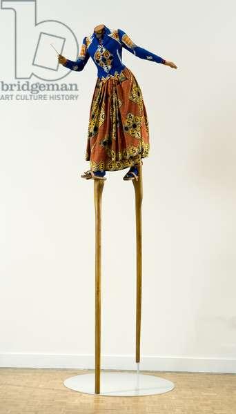 Sarah Hewitt, 2005 (fibreglass, Dutch wax-printed cotton, leather, wood & steel)
