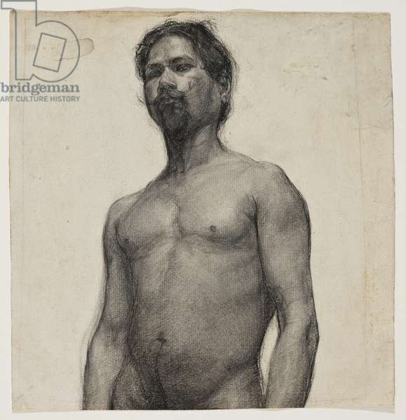 Study of a Negro Man. c.1891 (charcoal & pastel on cream laid paper)