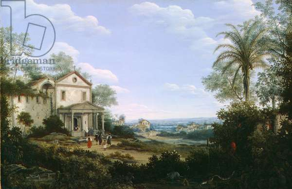View of the Jesuit Church at Olinda, Brazil, 1665 (oil on canvas)