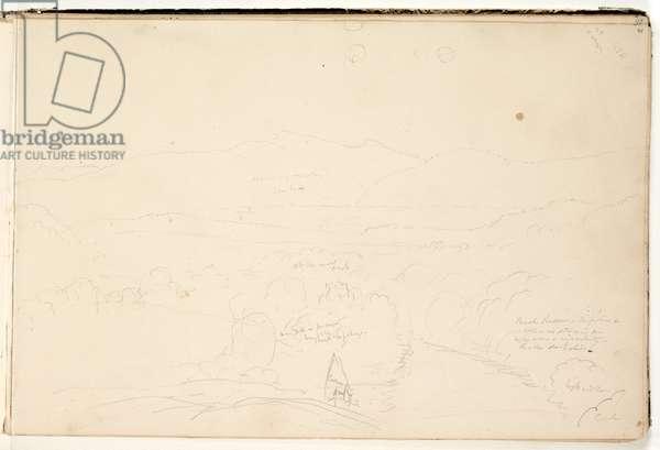 Landscape, 1832 (pencil on paper)