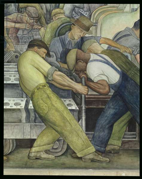 Detroit Industry, north wall, 1933 (fresco) (detail)