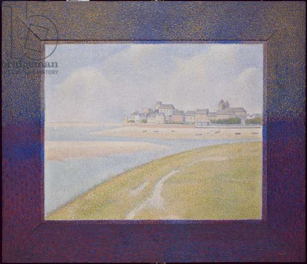 View of Le Crotoy, from Upstream, 1889 (oil on canvas)