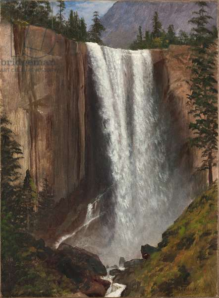 Vernal Falls, 1863 (oil on paper, mounted on canvas)
