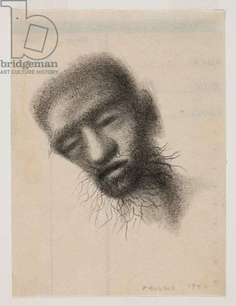 Dark Head, 1946 (pencil on paper)
