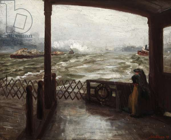 Wake of the Ferry, No. 1, 1907 (oil on canvas)