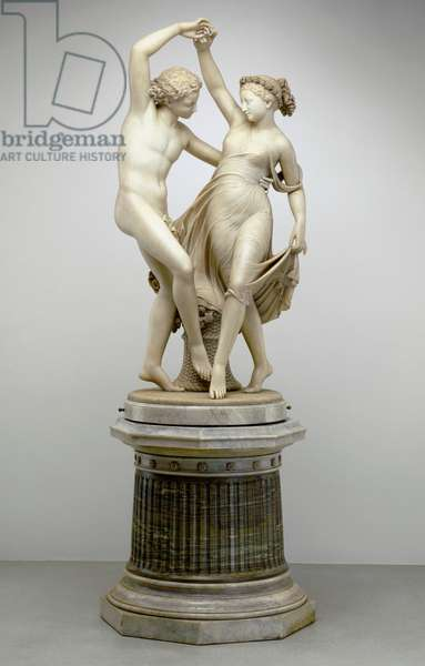 Zephyr Dancing with Flora, 1870 (marble)