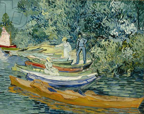 Bank of the Oise at Auvers, 1890 (oil on canvas)