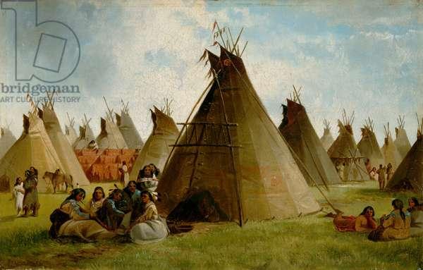Prairie Indian Encampment, c.1870 (oil on canvas)