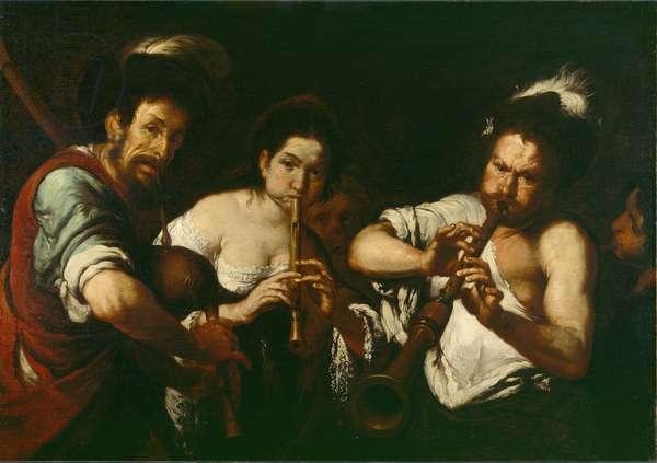 Street Musicians, c.1630 (oil on canvas)
