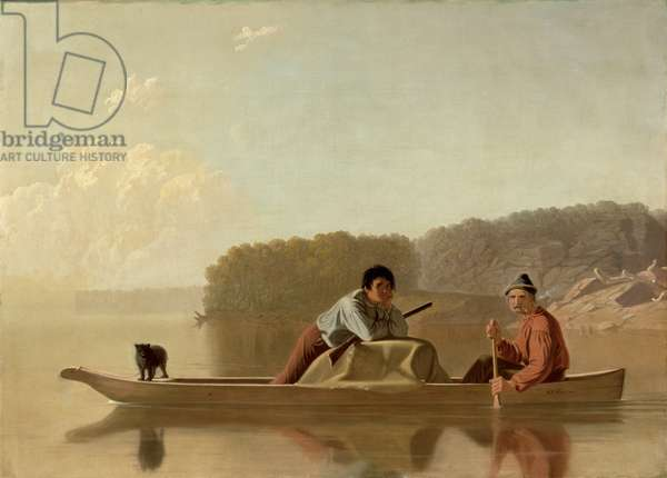 The Trapper's Return, 1851 (oil on canvas)