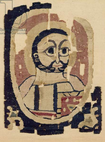 Fragment of a Head, Coptic (textile)