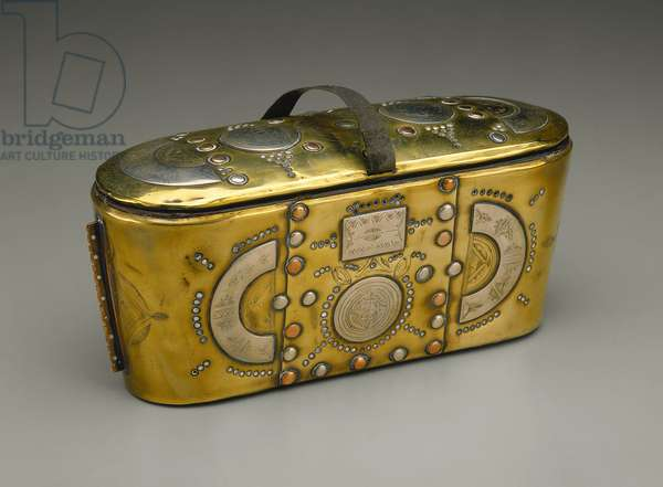 Tea Glasses Holder (Tanaka) (brass, silver & copper)