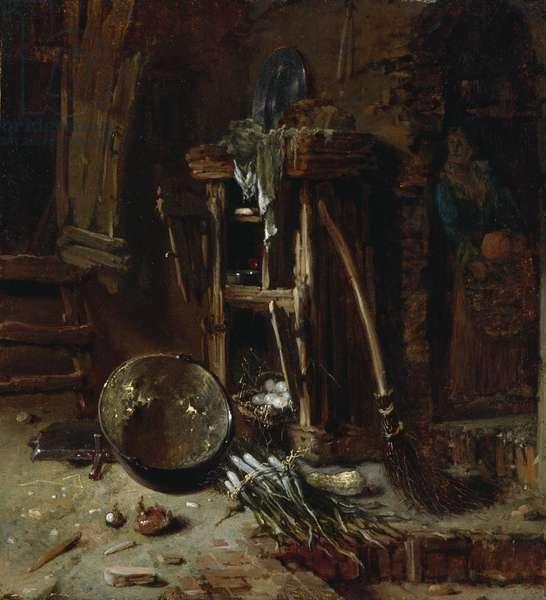 A Kitchen Corner, c.1642-44 (oil on wood panel)