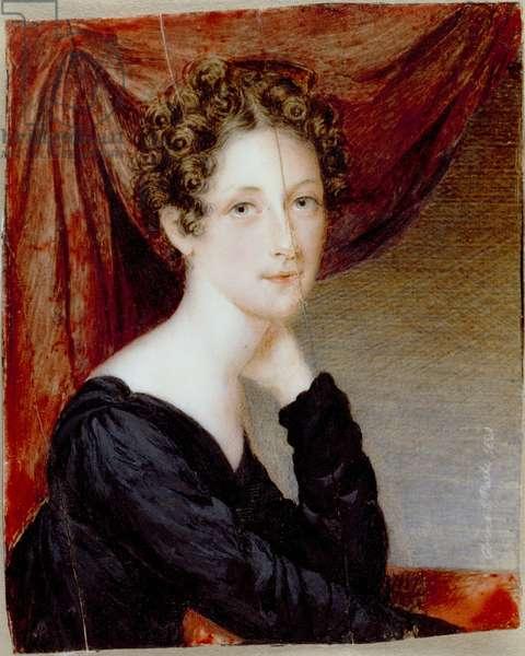 Rosalba Peale, 1820 (w/c on ivory)