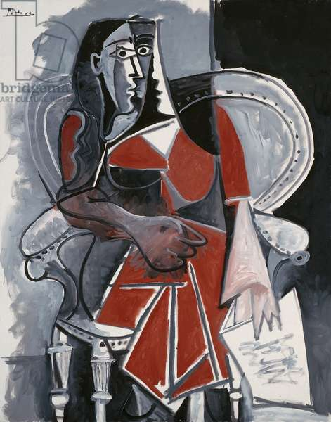 Seated Woman, 1960 (oil on canvas)