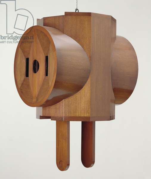 Giant Three-Way Plug, 1970 (mahogany veneer over wood)