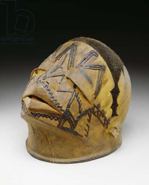 Helmet, Makonde, 19th-20th century (wood, wax & fibre)