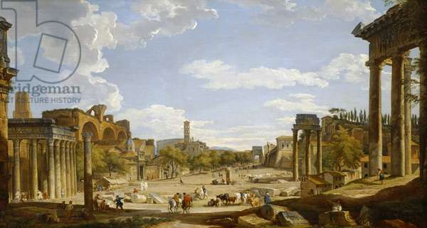 View of the Roman Forum, 1735 (oil on canvas)