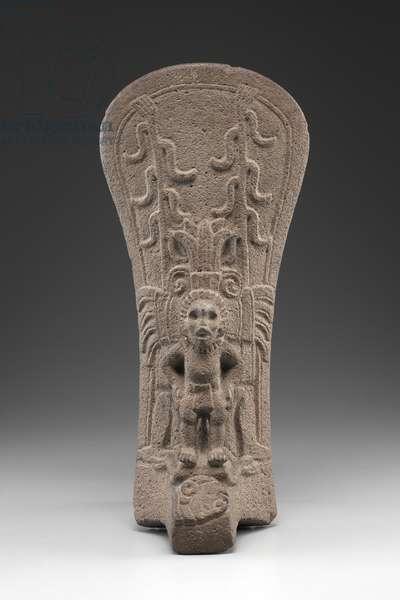 Palma with Maize God Receiving a Human Sacrifice, between 250-950 (basalt)