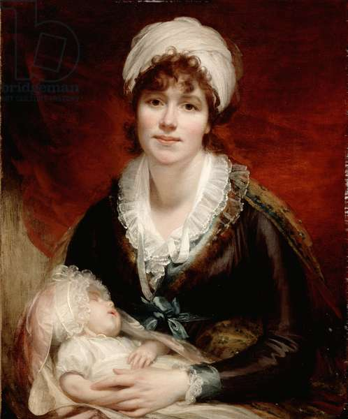 Lady Beechey and her Baby, c.1800 (oil on canvas)