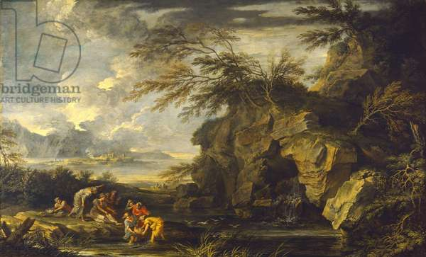 The Finding of Moses, c.1660-65 (oil on canvas)