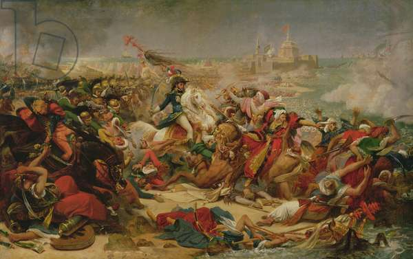 Murat Defeating the Turkish Army at Aboukir on 25 July 1799, c.1805 (oil on canvas mounted on board)