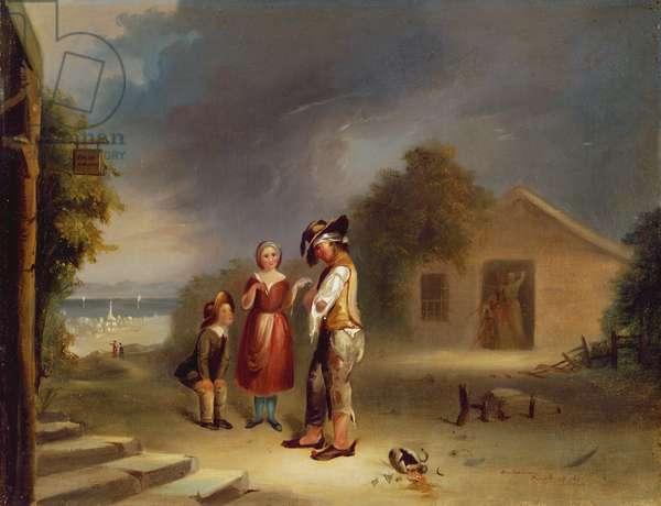 The Drunkard's Plight, 1845 (oil on canvas)