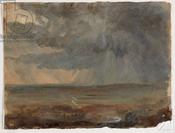 Stormy Landscape, c.1832 (oil on paper)