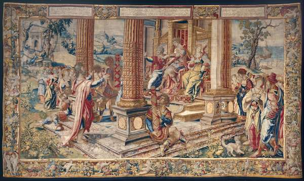 Saint Paul before Porcius Festus, King Herod Agrippa and his sister Berenice, c.1520 (wool & silk)