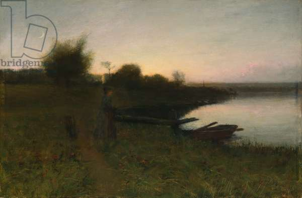 In the Gloaming, 1889 (oil on canvas)