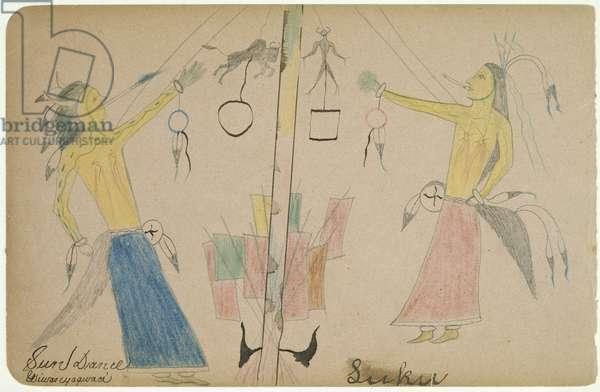 Sun Dance, c.1890 (coloured pencils on paper)