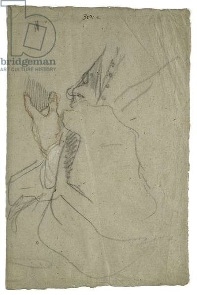 Drapery and Hand, c.1650 (pencil on paper)
