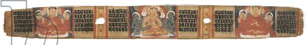 Folio 2r Goddess Prajnaparamita, from the 'Astasahasrika Prajnaparamita' (ink & colours on palm leaves and wood) (for detail see 430761)
