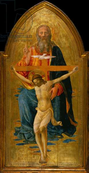 Holy Trinity with Saints, c.1470-75 (tempera & gold leaf on panel)