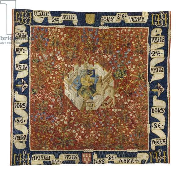 Millefleurs Tapestry, c.1520 (wool & silk)