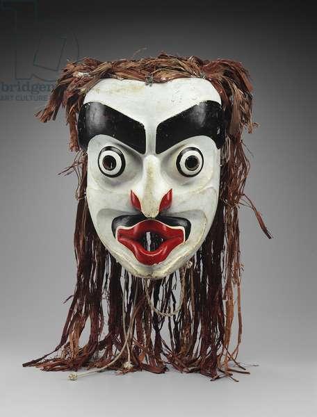 Mask of Dsonaqua (painted wood & cedar bark)