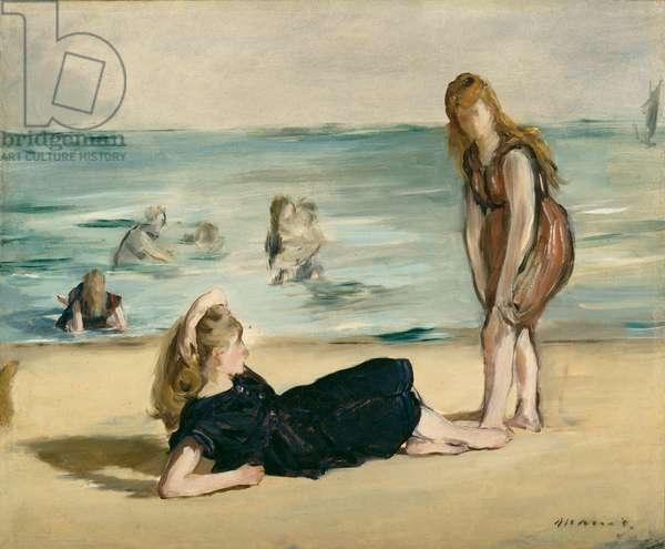 On the Beach, c.1868 (oil on canvas)