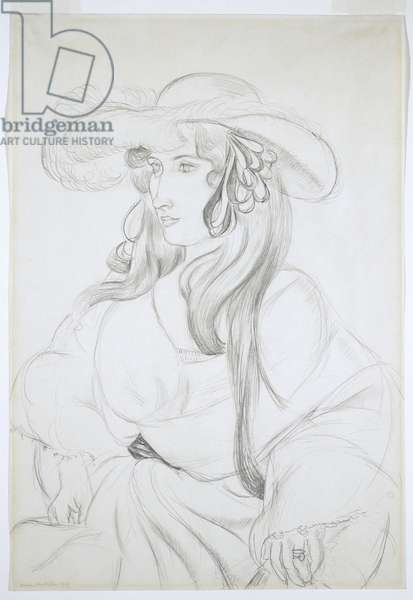 Plumed Hat, 1919 (graphite pencil on wove paper)