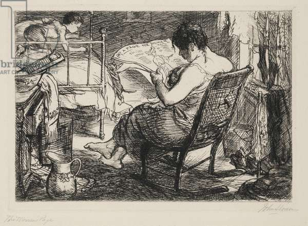 The Woman's Page, 1905 (etching)