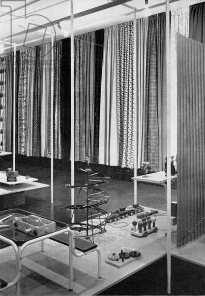 Hall of objects, page 88 from the catalogue for 'An Exhibition for Modern Living', 1949 (b/w photo)