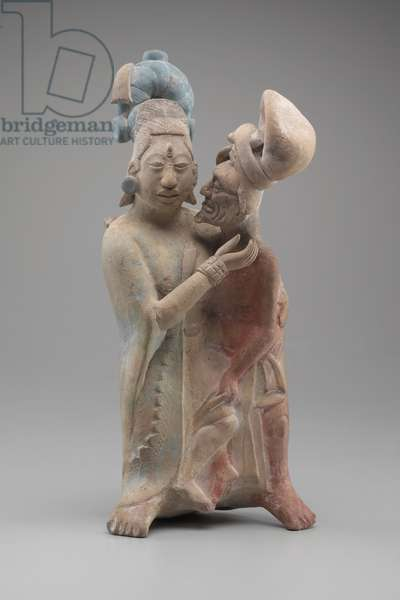 Embracing Couple (terracotta with pigments)