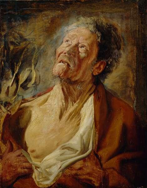 Job, c.1620 (oil on oak panel)