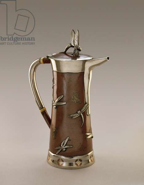 Coffeepot, Tiffany and Company, 1879 (sterling silver with copper)