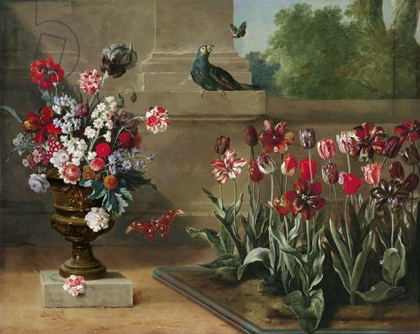 Corner of Monsieur de la Bruyere's Garden, 1744 (oil on canvas)