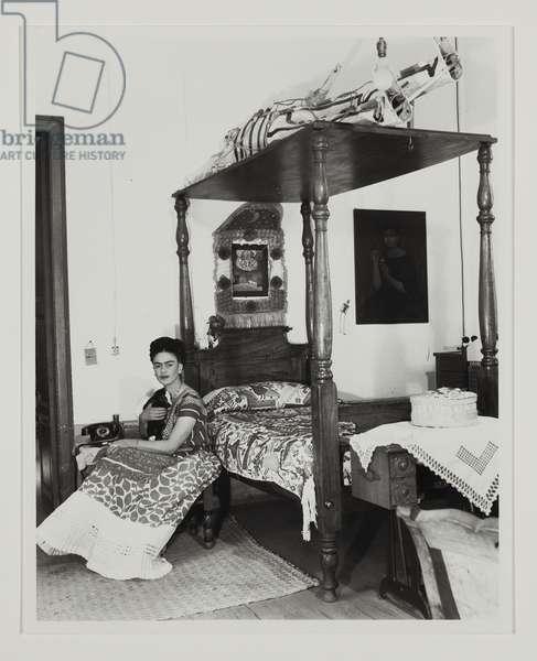 Frida Kahlo in Her Bedroom, c.1940 (gelatin silver print)