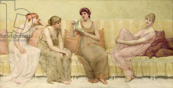 Reading the Story of Oenone, c.1883 (oil on canvas)